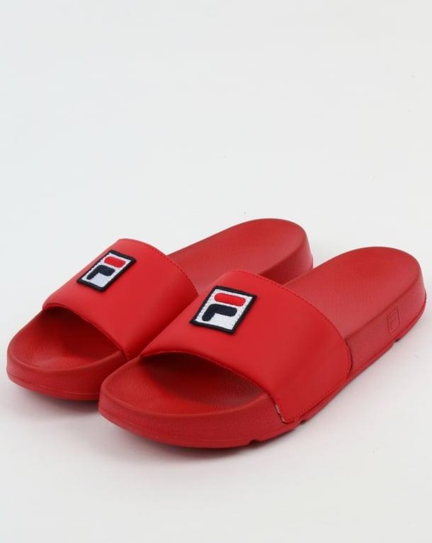 Fila Vintage Drifter F Box Sliders Red Sliders Sandals