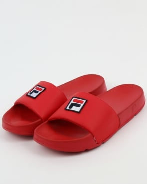 Fila Vintage Drifter F Box Sliders Red