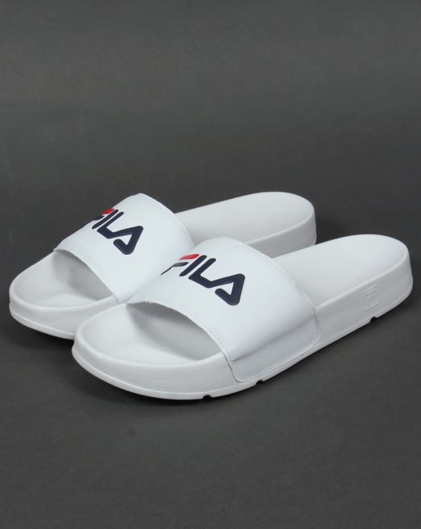 Fila Vintage Drifter Pool Sliders White