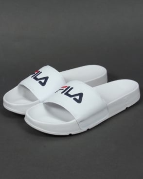 Fila Vintage Drifter Pool Slides White