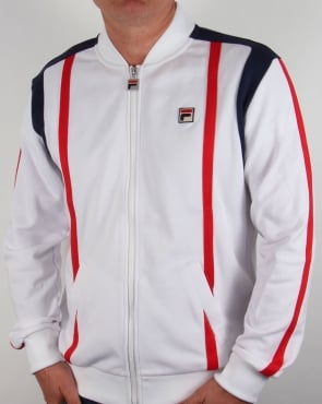 Fila Vintage Drifter Track Top White/navy/red