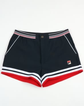 Fila Vintage Dyer Shorts Dark Navy Red White ddb05426c