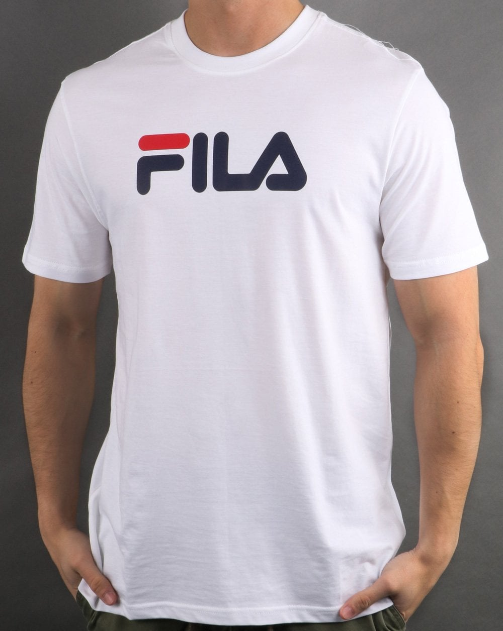fc12a0609 Fila Vintage Large Logo T Shirt in White | 80s Casual Classics