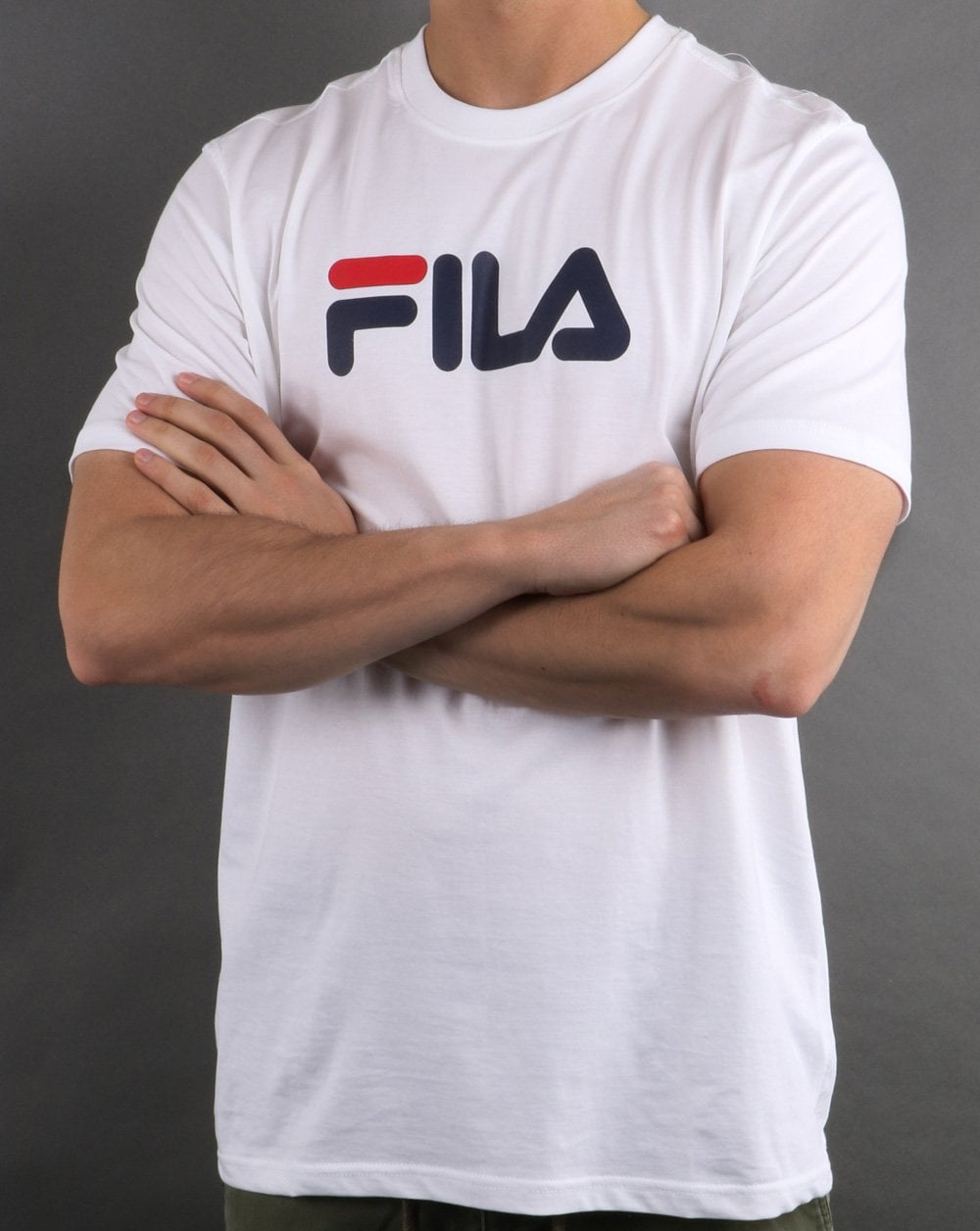 ec789bb68a085 Fila Vintage Large Logo T Shirt in White | 80s Casual Classics