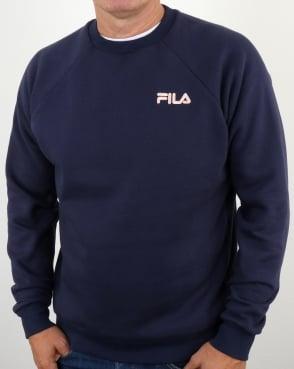 Fila Vintage Ethan Sweatshirt Navy