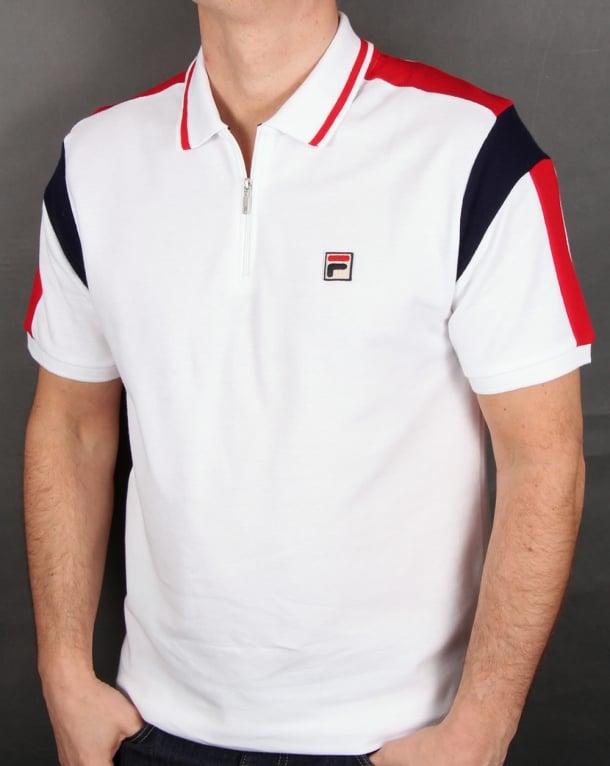 Fila Vintage Fabbiano Polo Shirt White