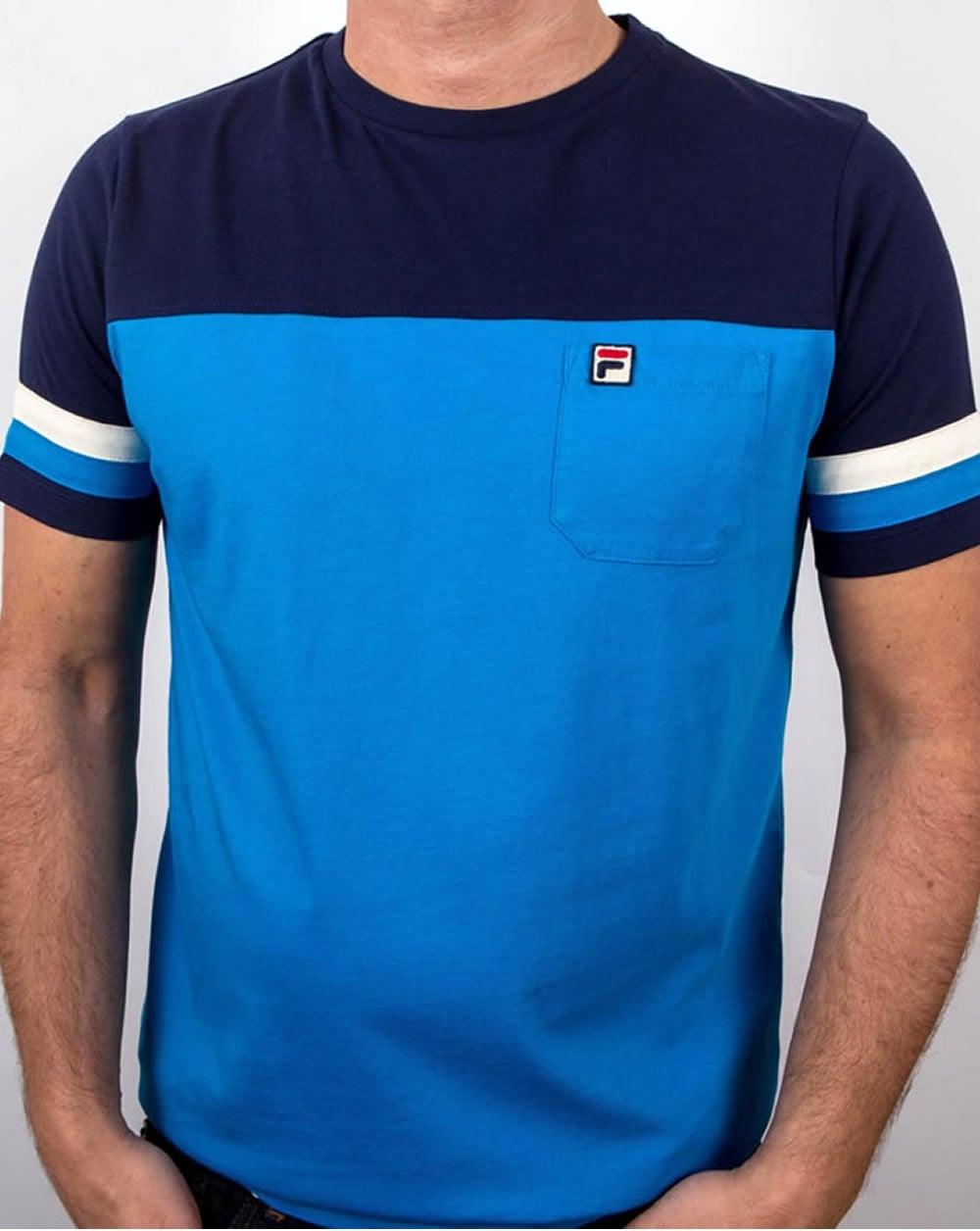 fila vintage falleti t shirt azure blue fila crew neck t shirt. Black Bedroom Furniture Sets. Home Design Ideas