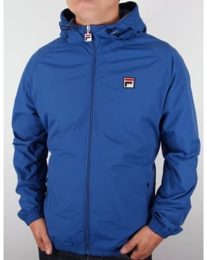 Fila Vintage Farro Hooded Jacket Italia Blue