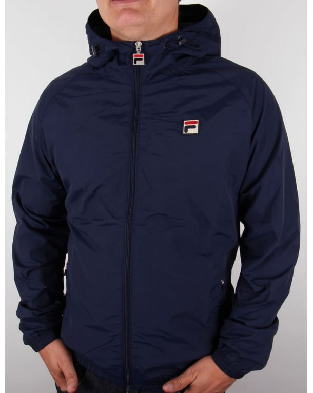 Fila Vintage Farro Hooded Jacket Navy