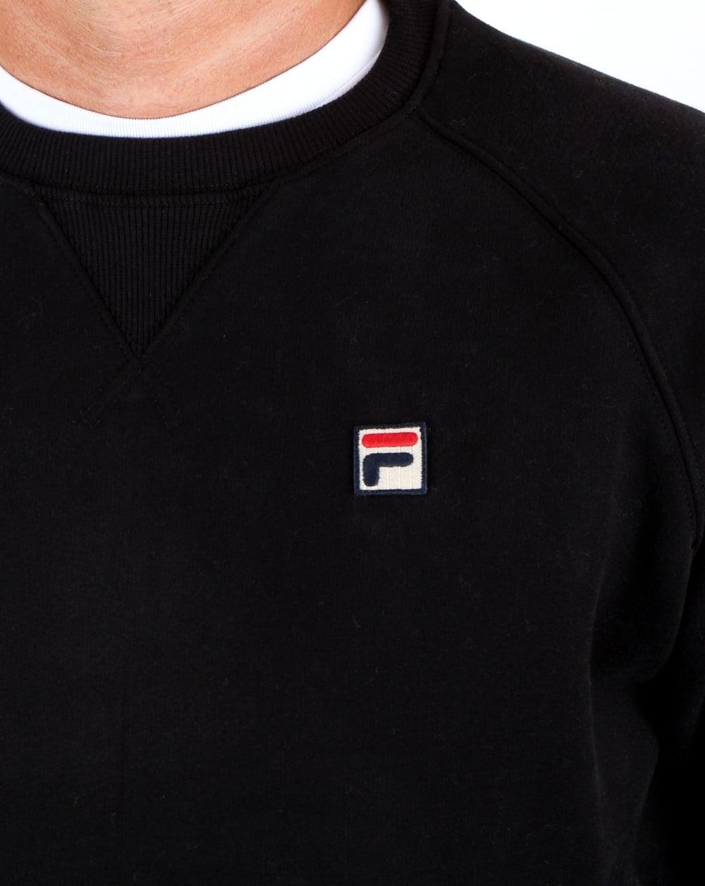 ea54245deb95 Fila Vintage Filippo Crew Sweat Black