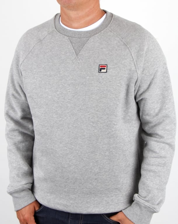 Fila Vintage Filippo Crew Sweat Grey Twist