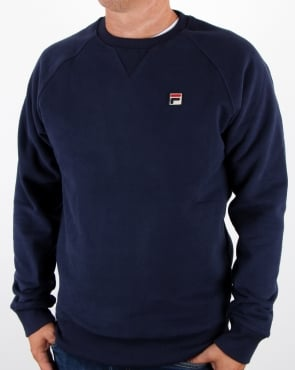 Fila Vintage Filippo Crew Sweat Navy