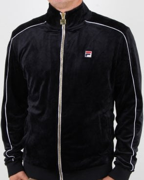 Fila Vintage Finest Velour Track Top Black