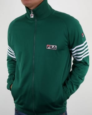 Fila Vintage Five Stripe Track Top Evergreen/white