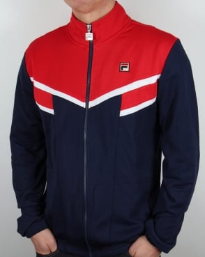 Fila Vintage Fognini Track Top Red/Navy