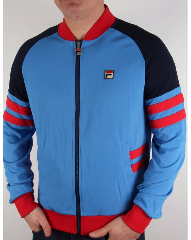 Fila Vintage Founder Track Top Ocean Blue/red/navy