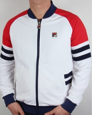 Fila Vintage Founder Track Top White/navy/red