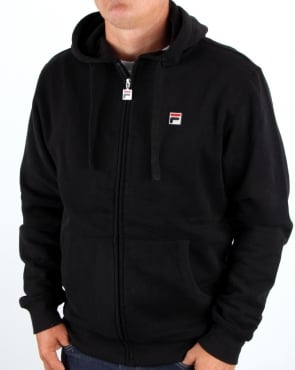 Fila Vintage Full Zip Hooded Top Black