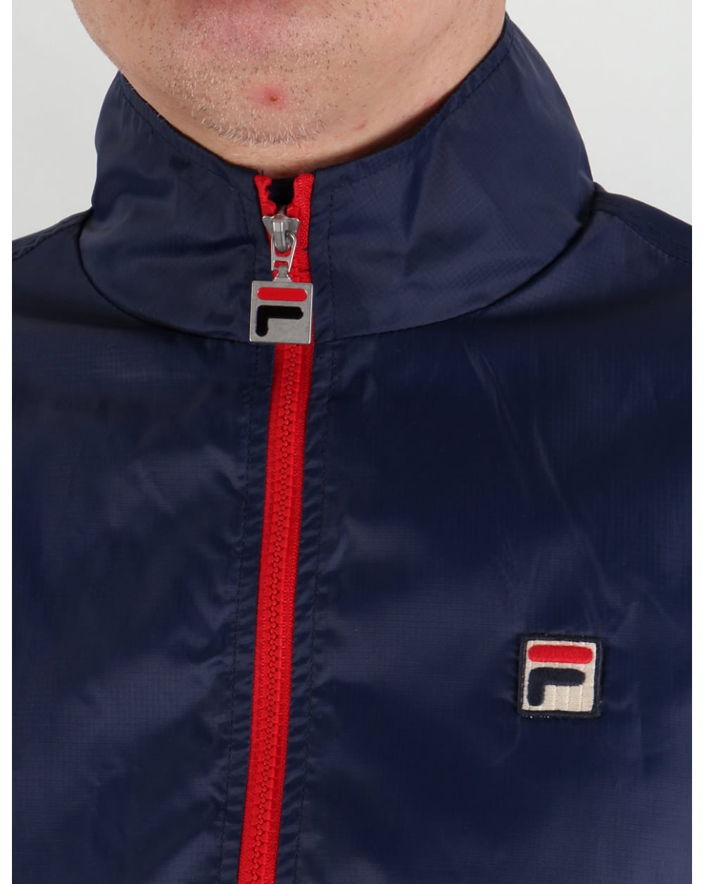 top-rated real top-rated quality how to choose Fila Vintage Funnel Rain Jacket Navy