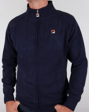 Fila Vintage Funnel Sweat Track top Navy