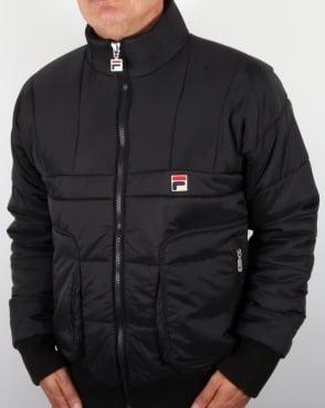 Fila Vintage Gallio Puffer Ski Jacket Black