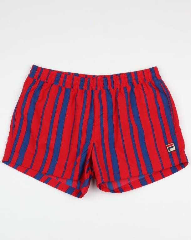 Fila Vintage Gianni Swim Shorts Chinese Red