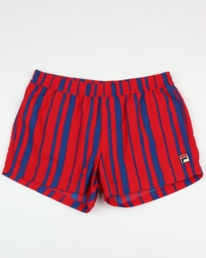Fila Vintage Gianni Swim Shorts Chinese Red