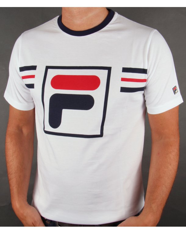 Fila Vintage Gimondo T-shirt White/navy/red