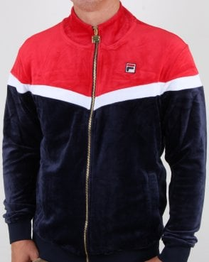 Fila Vintage Harry Velour Track Top Navy/red/white
