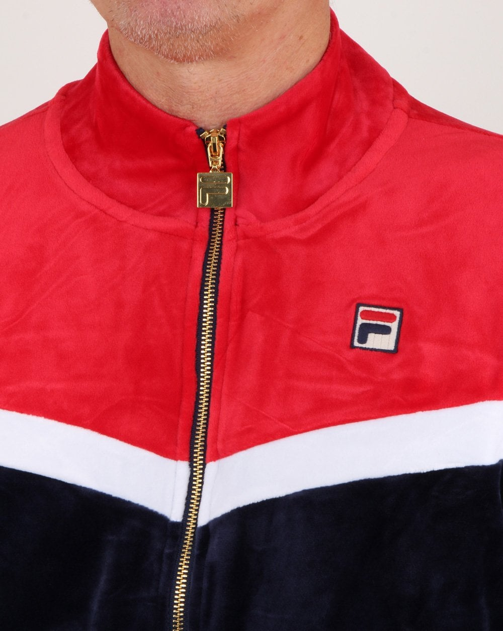 ee625164 Fila Vintage Harry Velour Track Top Navy/red/white, Mens, Track,Velour