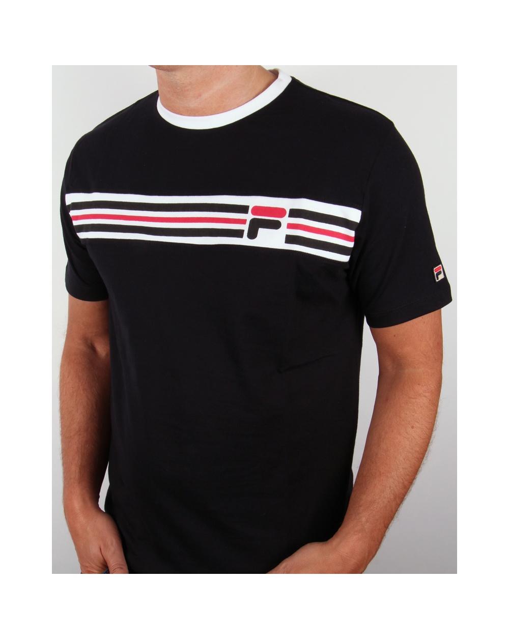 fila vintage headband stripe t shirt black fila vandorno stripe t shirt. Black Bedroom Furniture Sets. Home Design Ideas