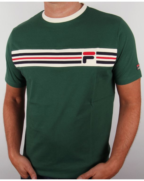 Green t-shirt with logo Fila Cheap Sale New Cheap Sale View Browse Online Free Shipping Cost Free Shipping Cheap Price 2z1yHwiJ