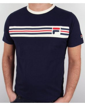 Fila Vintage Headband Stripe T-shirt Navy