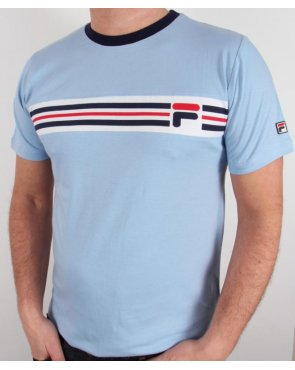 Fila Vintage Headband Stripe T-shirt Sky Blue