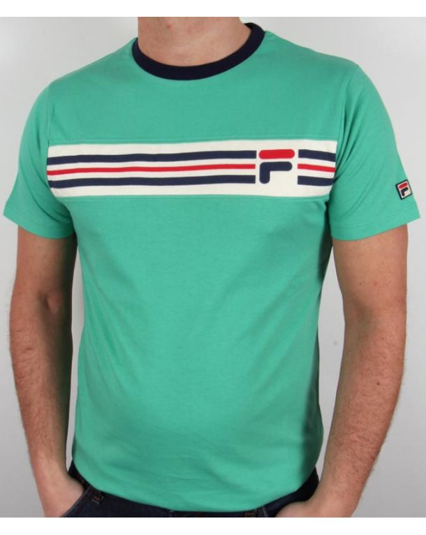 Fila Vintage Headband Stripe T-shirt Spring Green
