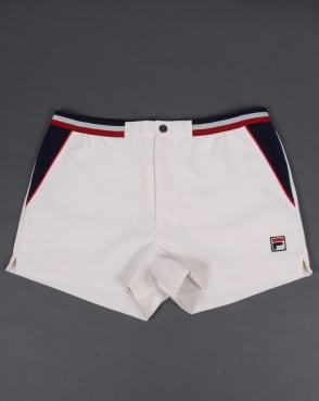 Fila Vintage High Tide 3 Shorts Gardenia/Navy/Red