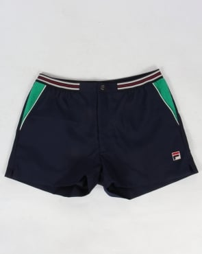 Fila Vintage High Tide 4 Shorts Navy/Green