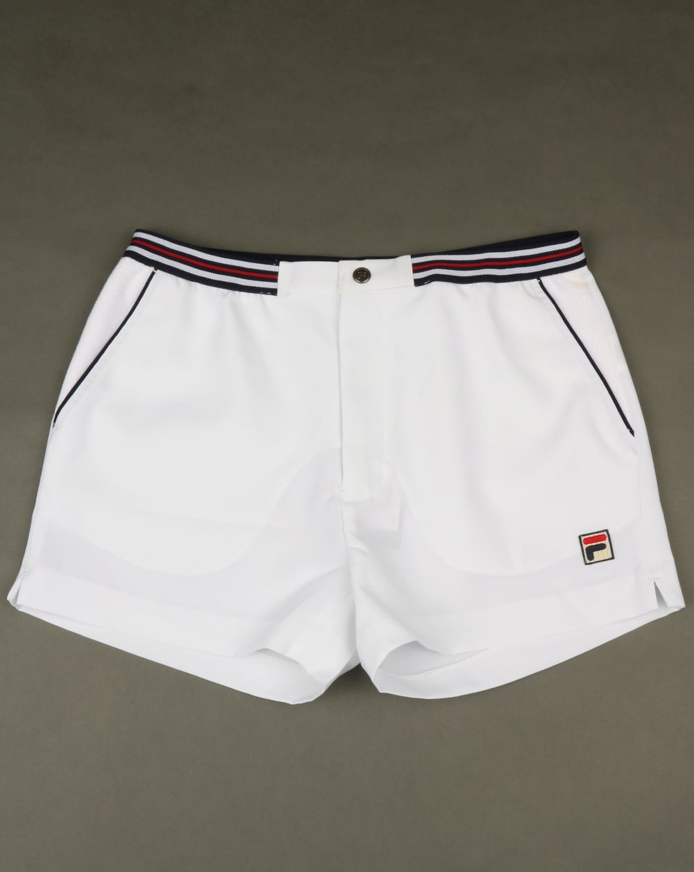 5b42405f3f00 Fila Vintage High Tide 4 Shorts White,piping,retro,striped,mens