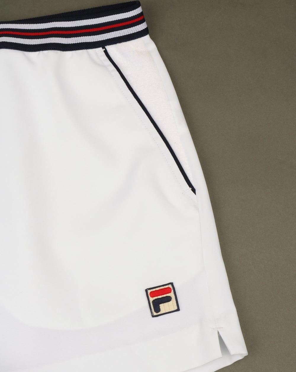 f36d5b04e0759 Fila Vintage High Tide 4 Shorts White,piping,retro,striped,mens
