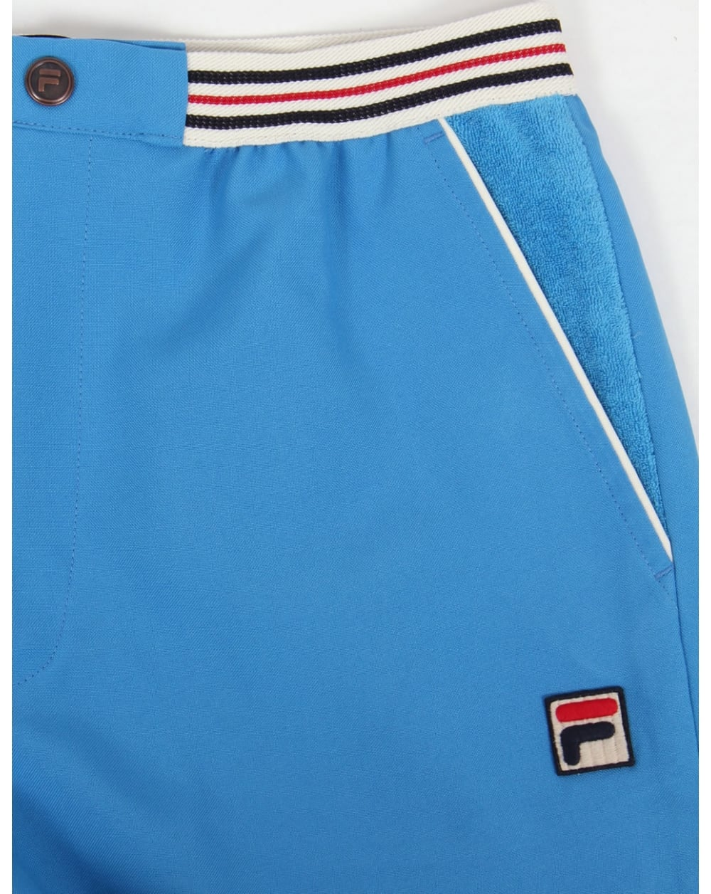 76a9703b03a37 Fila Vintage High Tide Shorts French Blue,retro,striped,mens