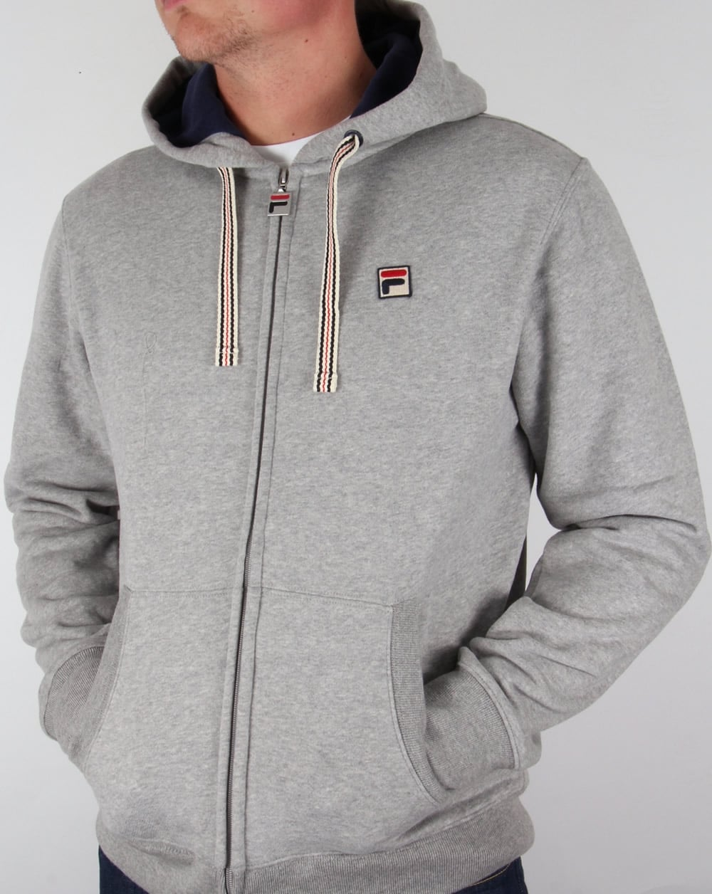 d0a3a1562014 Fila Vintage Bagnoli Hoodie Grey,hooded,jacket,track,top,mens