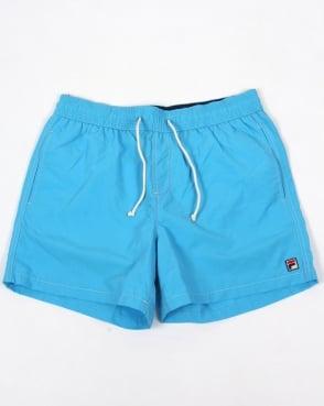 Fila Vintage Lanyard Swim Shorts Blue Azure