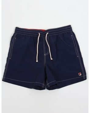 Fila Vintage Lanyard Swim Shorts Navy