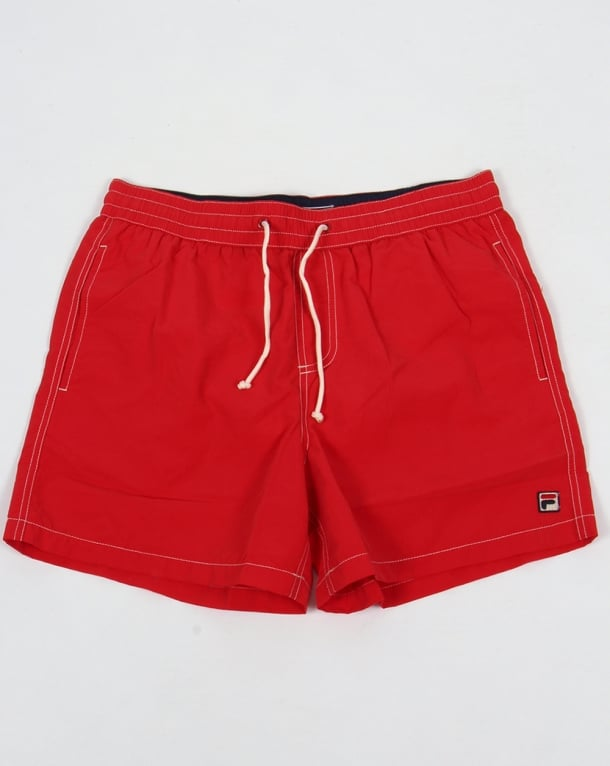 Fila Vintage Lanyard Swim Shorts Red