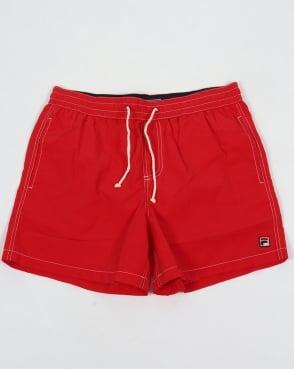 Fila Vintage Lanyard Swim Shorts Red