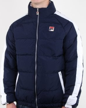 Fila Vintage Ledger Puffa Jacket Navy/white