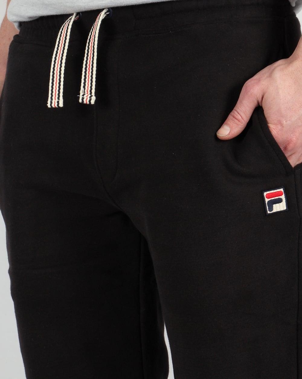 2ad435946cc0 Fila Vintage Livata Cuffed Track Pants Black,bottoms,tracksuit,mens