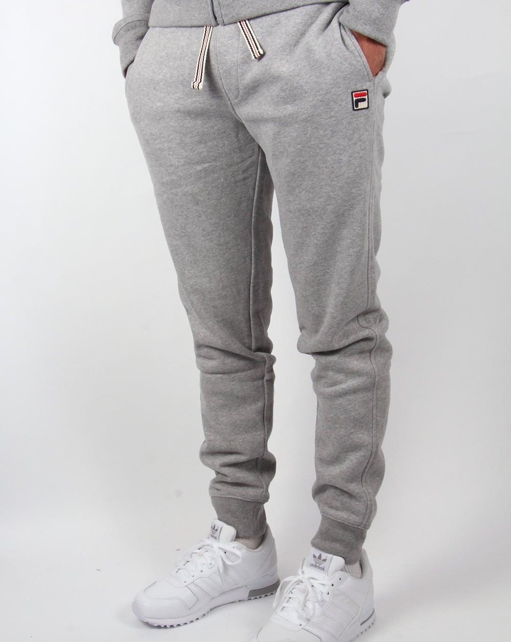 3515b72c5198 Fila Vintage Livata Cuffed Track Pants Grey,bottoms,tracksuit,mens