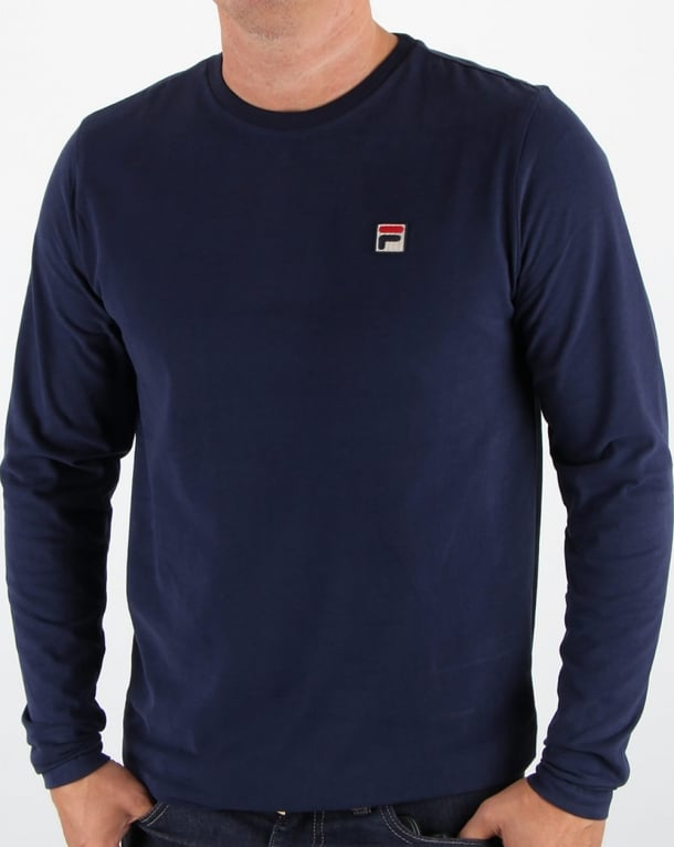 Fila Vintage Long Sleeve T-shirt Navy