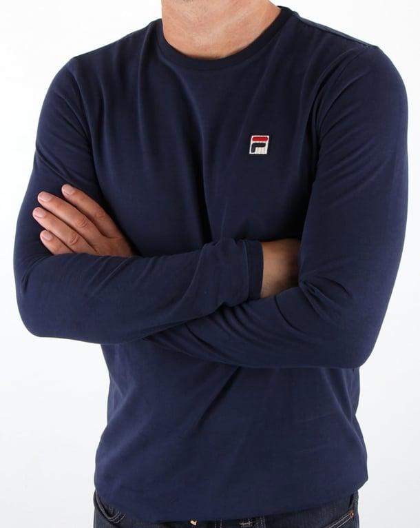 Fila Vintage Long Sleeve T-shirt Navy